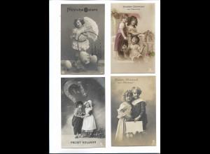 XX14855/ 4 x alte Foto AK Kinder Glückwunsch Ostern Neujahr Geburtstag Namenstag