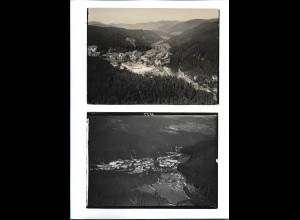 ZZ-5425/ 2 x Foto St. Blasien seltene Fotos Luftbild 18 x 13 cm 1935