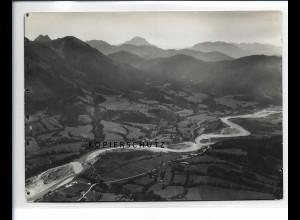 ZZ-5440/ Hohenreuth a. d.Isar Lenggries seltenes Foto Luftbild 18 x 13 cm 1936