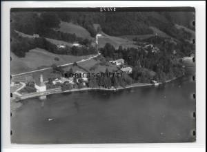 ZZ-5439/ St. Quirin am Tegernsee seltenes Foto Luftbild 18 x 13 cm 1937