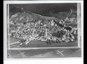 ZZ-5456/ Schelkingen seltenes Foto Luftbild 18 x 13 cm 1937