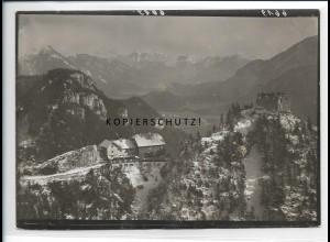 ZZ-5455/ Ruine Falkenstein seltenes Foto Luftbild 18 x 13 cm ca.1938