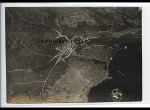 ZZ-5465/ Neuffen seltenes Foto Luftbild 17 x 12 cm ca.1935