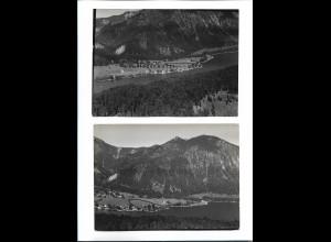 ZZ-5424/ 2 x Foto Walchensee seltene Fotos Luftbild 18 x 13 cm 1936