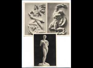 XX14885/ 3 x alte AK Arno Breker Skulpturen ca.1935