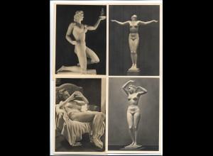 XX14883/ 4 x alte AK HDK Haus der Deutschen Kunst Frauen