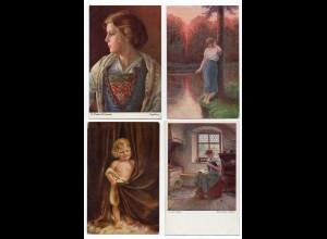 Y11951/ 23 x AK schöne Künstler Karte ca.1910-20