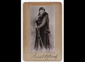 C3652/ Schauspieler Ernst Possart Original Autogramm 1886