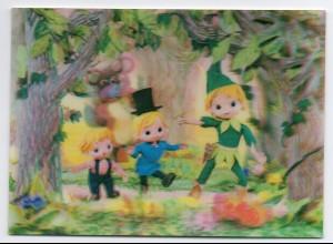P4H68/ Peter Pan im Walde 3 D AK