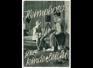 C873/ Heimphotos Kamera Fotoapparat Heft 12 Seiten, Osram ca.1935