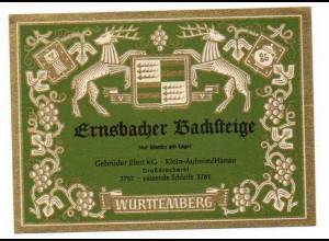 W9Q16/ Weinetikette Ernsbacher Backsteige