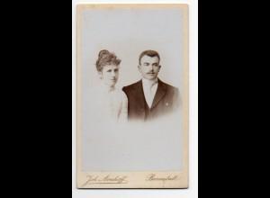 W9F98/ CDV Foto junges Paar Atelier Averhoff, Barmstedt ca.1900