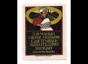 W9J62/ Stuttgart Gartenbau-Ausstellung 1913 Vignette Reklamemarke