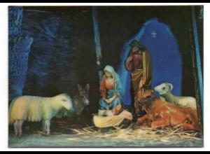 W9L04/ 3 D AK Christkind Religion ca.1970