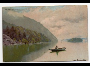 E030/ Fra Kristianiafjorden Norwegen Künstler Litho AK Verlag: Eneret ca.1900