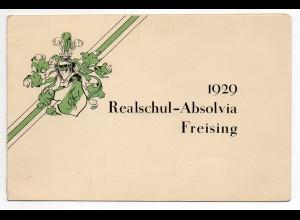 W9N32/ Studentika Realschul-Absolvia Freising 1929 Einladung