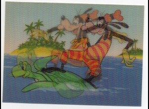 E142/ Walt Disney Goofy 3 D Wackelbild AK