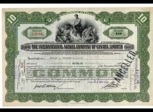C2229/ Wertpapier Aktie International Nickel Company of Canada 1930