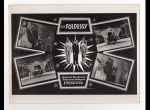 C3650/ Les Földessy Zirkus Variete Artisten Zahnkraft-Schlappseil Foto 24x18 cm
