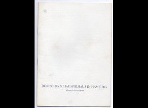 c1092/ Programmheft Schauspielhaus Hamburg Gustav Gründgens 1958