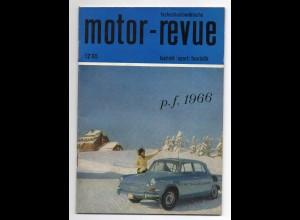 c1167/ Motor-Revue Heft 12/65 Tschecheslowakei viele Abb. Auto LKW Motorrad
