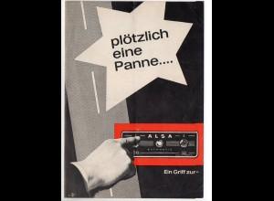 c1162/ ALSA Auto-Licht-Sicherheits-Automatik Faltblatt 1964
