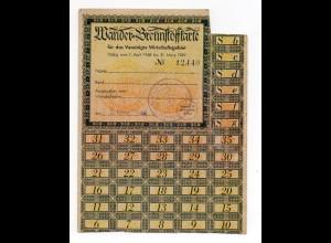 X1G96/ Wander-Brennstoffkarte 1948/49