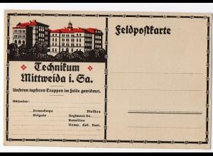 I1791-096./ Mittweida Technikum AK 1918 Feldpostkarte