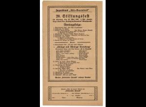C2348/ Jugendbund Alt-Barmbeck Hamburg 20. Stiftungsfest 1921 Volksheim