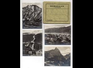 X1J99/ Romsdalen Norwegen Mappe mit 10 Fotos 10,5 x 7,7 cm ca.1930