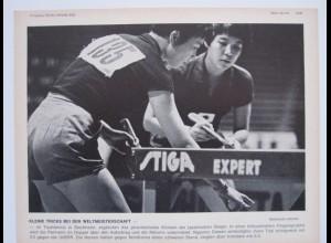 C1132/ Tischtennis WM Bild Drei-Mohren-Verlag 1967