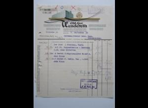 c1157/ Rechnung Kassel AG Wenderoth Pharmazeut. Artikel 1935