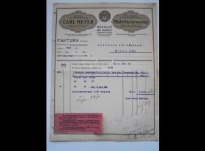 C1765/ Rechnung Carl Meyer Malzfruchtwerke Breslau 1922