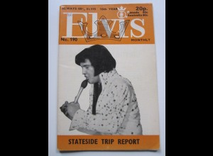 C1986/ Elvis Presley Monthly No. 190 1975 UK-Magazin
