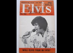 C1985/ Elvis Presley Monthly No. 206 1977 UK-Magazin