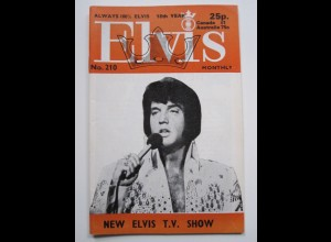 C1982/ Elvis Presley Monthly No. 210 1977 UK-Magazin