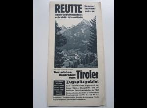 C3990/ Reutte Tirol Faltprospekt ca.1935 Österreich