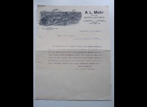 C3993/ Rechnung A. L. Mohr Margarinefabrik Hamburg Bahrenfeld 1914