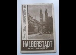 C3997/ Halberstadt am Harz Phönix-Stadtplan ca.1955