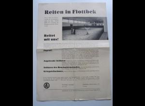 C4000/ Reiten in Hamburg Flottbek Faltblatt Reitervein 1935