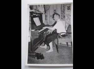 C4009/ 8 x Foto Heinz Arntz Weltrekord in Dauerklavierspielen Piano ca.1950-55