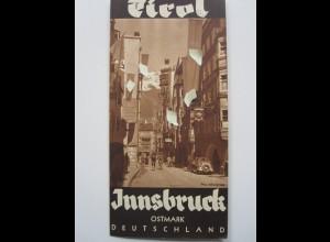 C4415/ Innsbruck Tirol Ostmark Deutschland Faltblatt ca. 1938