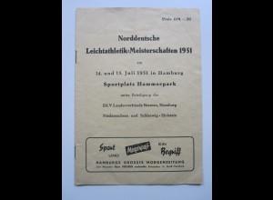 C4436/ Hamburg Hamm Nordd. Leichtathletik Meisterschaften 1951 Hammerpark