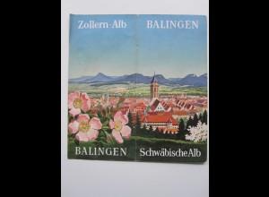 C4435/ Balingen Schwäbische Alb Faltprospekt 1954