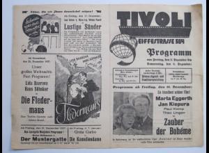 C4441/ TIVOLI Lichtspielhaus Kino Hamburg Hamm Eiffestr. Programm 15.5-21.5.1936