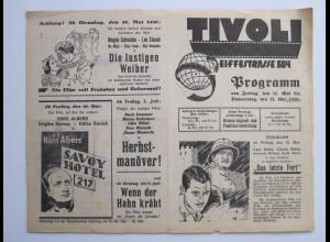C4440/ TIVOLI Lichtspielhaus Kino Hamburg Hamm Eiffestr. Programm 15.5-21.5.1936