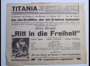 C4438/ TITANIA Lichtspielhaus Kino Hamburg Hamm Süderstr. Programm 19.2.-25.2.37