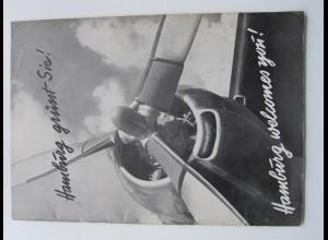 C4451/ Hamburg grüßt Sie! Flughafen Fuhlsbüttel Hamburger Wegweiser. Heft 1952