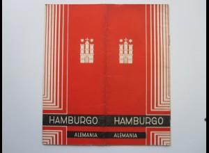 C4449/ Hamburg Hamburgo Alemania Heft 16 Seiten mit Abbildungen a.1930