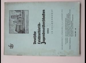 C4454/ Delmenhorst Dt. Leichtathletik Jugendmeisterschaften 1953 Heft 62 Seiten